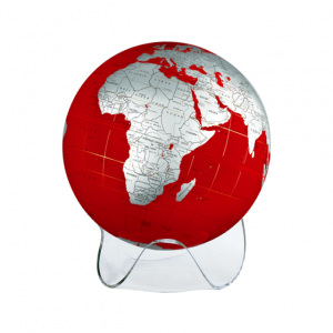 red and silver globe