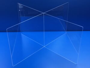Clear Acrylic Four-Slot Tabletop Divider